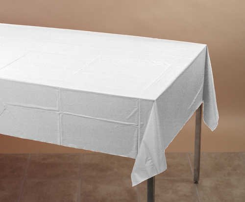 White Tablecover