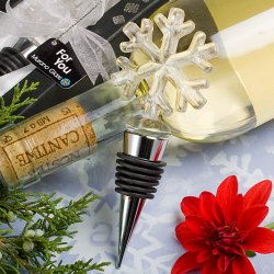 Glass Snowflake Wine Bottle Stopper