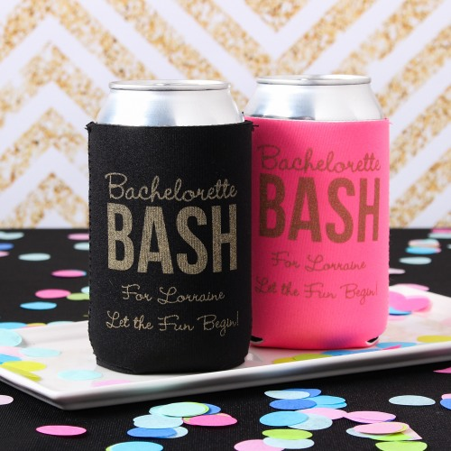 Personalized Neoprene Wedding Can Sleeve