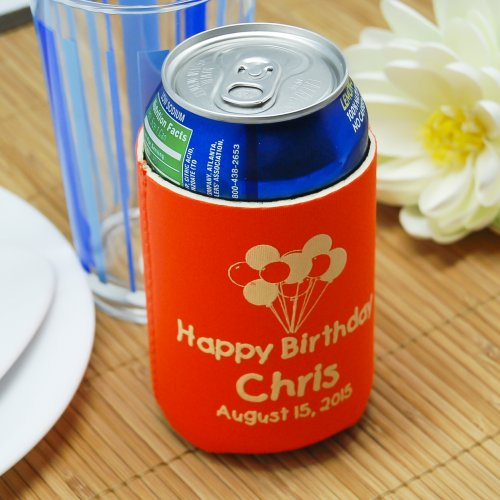 Personalized Neoprene Birthday Can Sleeve