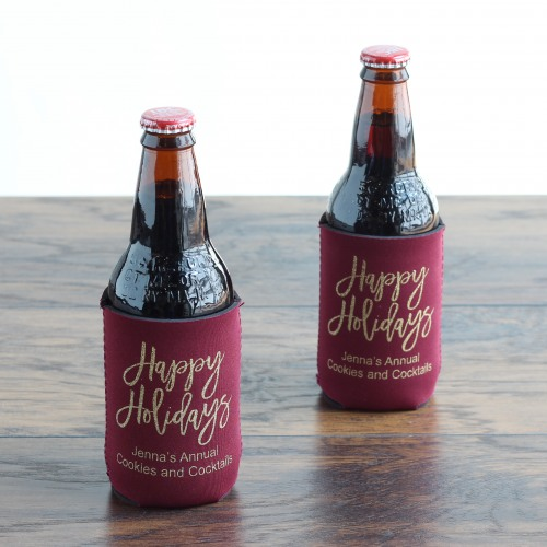 Personalized Holiday Script Can Sleeves