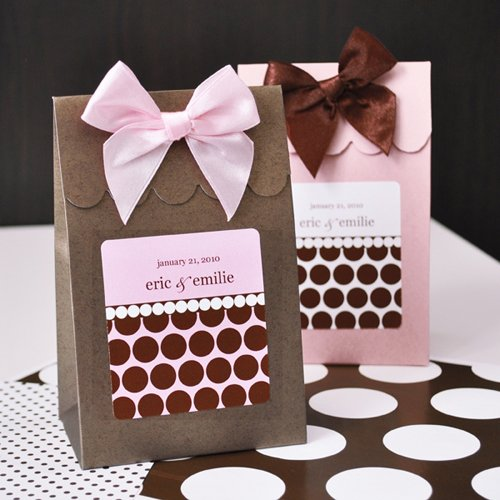 Dots and Stripes Design Personalized Candy Bags
