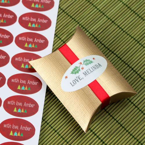 Personalized Oval Holiday Labels