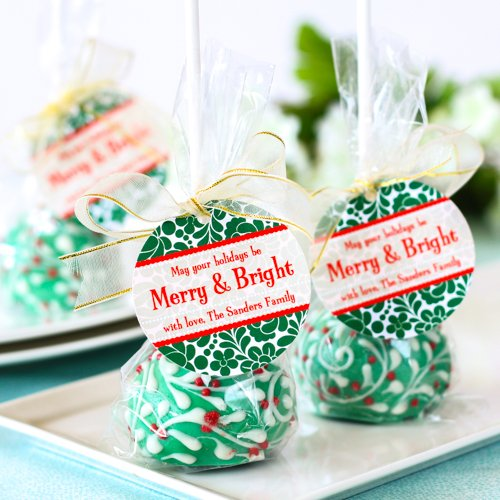 Personalized Round Holiday Gift Tags