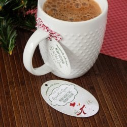 Personalized Oval Holiday Favor Gift Tags