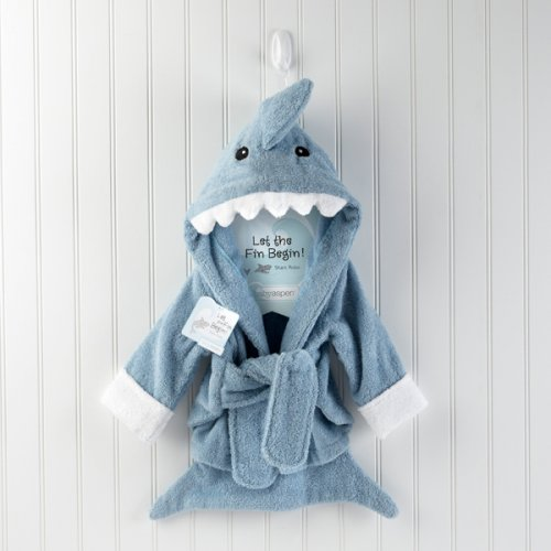 Terry Shark Personalized Baby Bath Robe