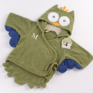 Little Owl Personalized Baby Bath Robe