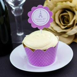 Personalized Birthday Cupcake Wrappers and Toppers
