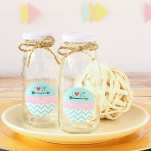 Personalized Milk Jars and Straws