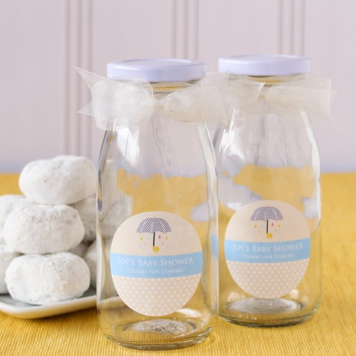 Personalized Baby Shower Milk Jars