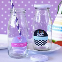 Personalized Teen Milk Jars and Straws