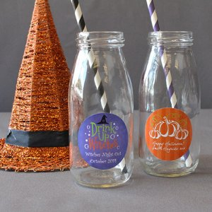 Personalized Holiday Milk Jars and Straws