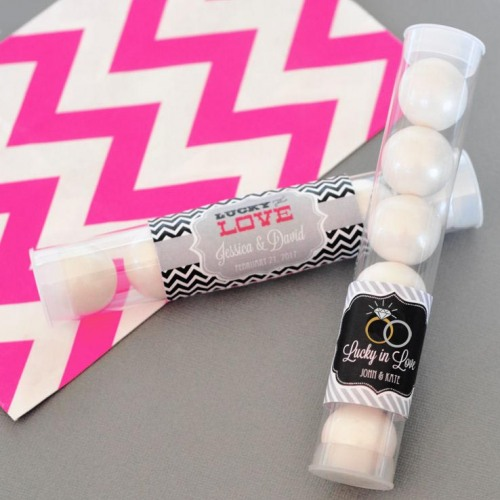 Personalized Wedding Candy Tubes