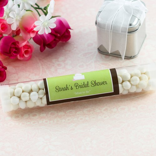 Personalized Bridal Shower Candy Tube