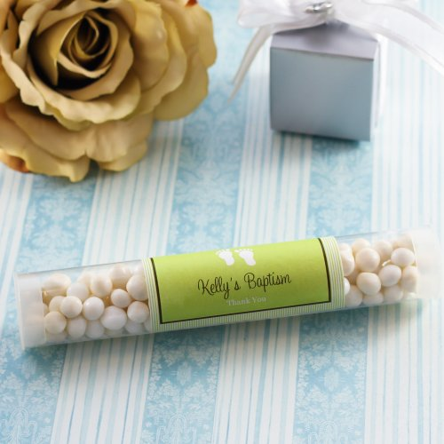 Personalized Baptism Candy Tube