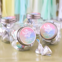 Personalized Wedding Themed Candy Jars