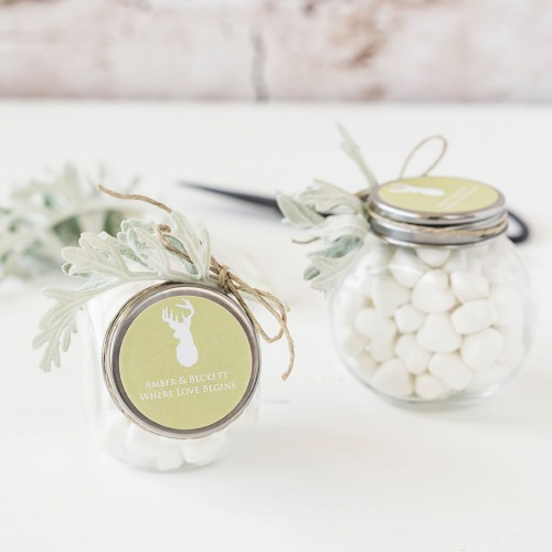 Personalized Woodland Themed Candy Jars