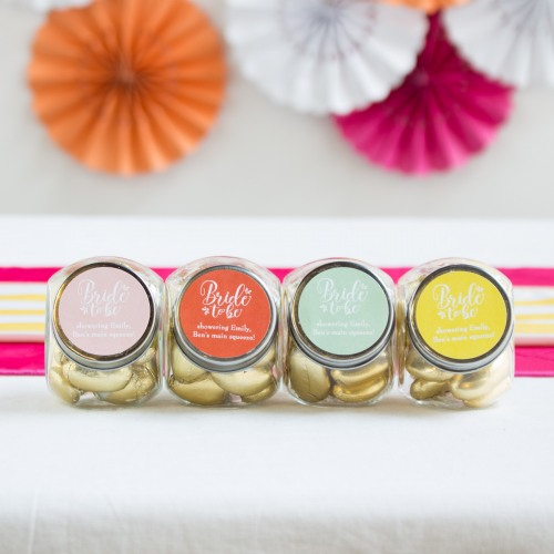 Personalized Bride to Be Candy Jars