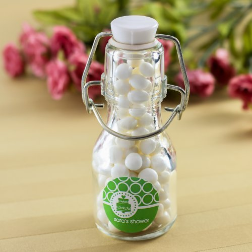 Personalized Bridal Shower Mini Glass Bottle
