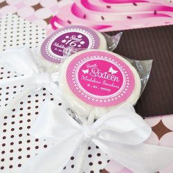 Personalized Teen Birthday Lollipop Favor