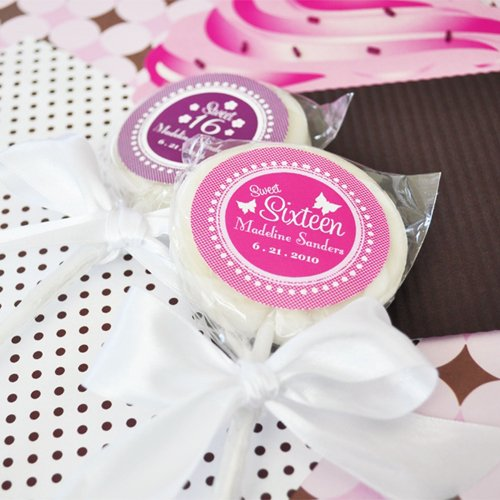 Personalized Sweet 16 Lollipop Favors
