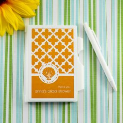 Personalized Bridal Shower Notebook Favor