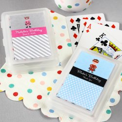 Kids Birthday Playing Cards with Personalized Labels