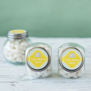 Personalized Mini Glass Baptism Candy Jar