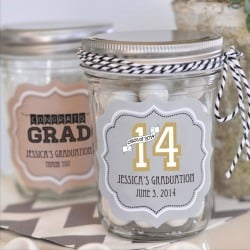 Personalized Graduation Mason Jars