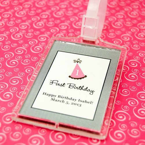 Personalized Kids Birthday Acrylic Luggage Tag Favor