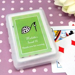 Teen Birthday Playing Cards with Personalized Labels