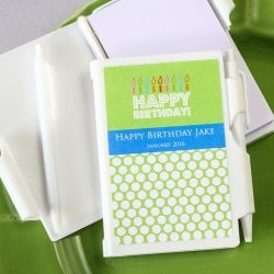 Personalized Birthday Notebook Favor