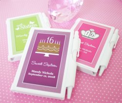 Personalized Teen Birthday Notebook Favor