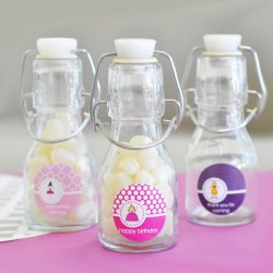 Personalized Kids Birthday Mini Glass Bottle