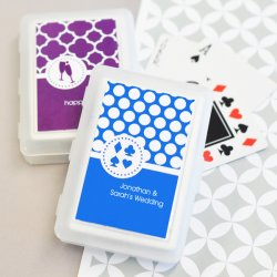 Bridal Shower Playing Cards with Personalized Labels