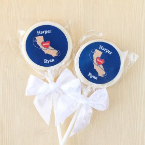Personalized Wedding Themed Lollipop