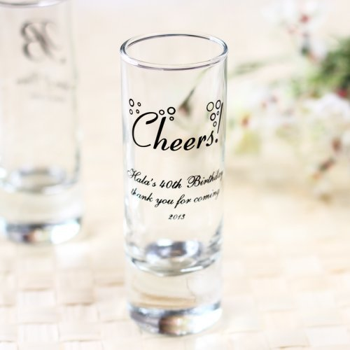 Personalized Cheers Double Shot Gl