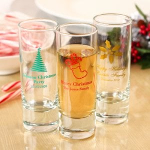 Personalized Holiday Double Shot Glass