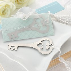 Vintage Heart Shaped Key Bookmark