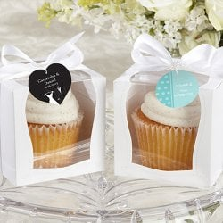 Personalized White Cupcake Boxes
