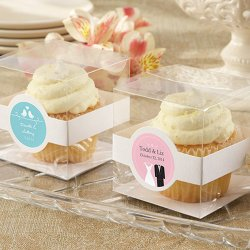 Personalized Clear Cupcake Boxes