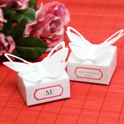 Personalized 3-D Butterfly Favor Boxes