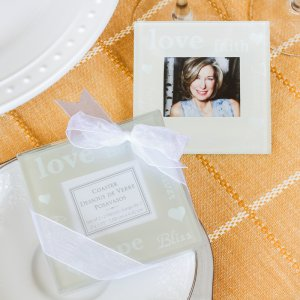 Good Wishes Glass Photo Coasters