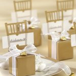 Gold Chair Favor Box Place Card Holders