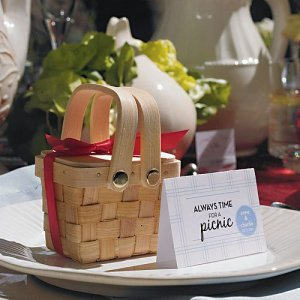 Mini Woven Picnic Baskets