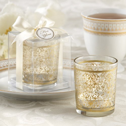 Golden Renaissance Glass Tea Light Holders