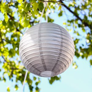 Round Metallic Paper Lanterns