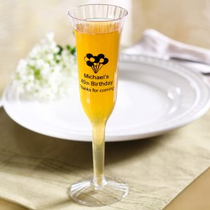 Personalized Plastic Champagne Flutes