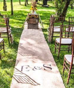 Personalized Burlap Aisle Runner with Monogram
