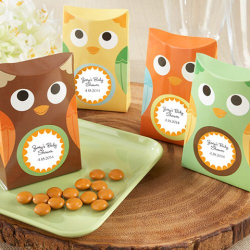 Personalized Owl Favor Boxes